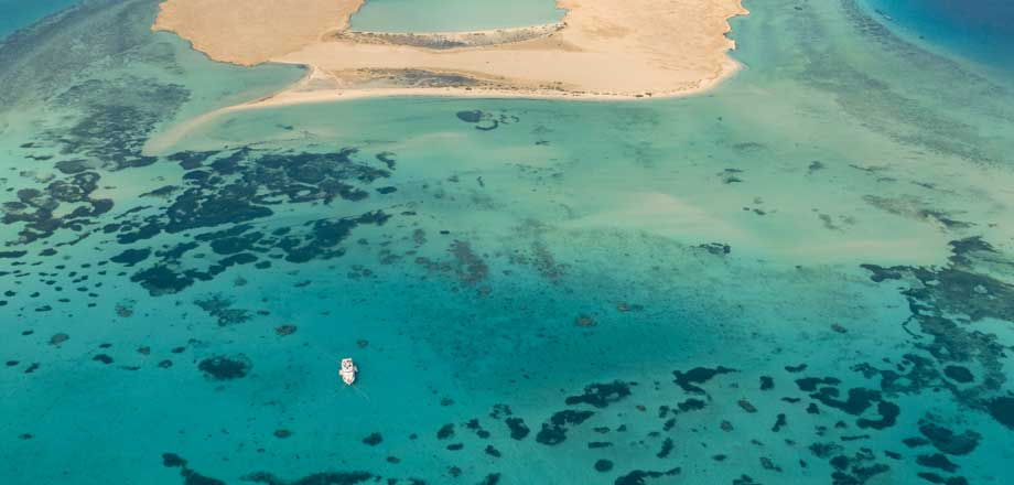 Red Sea Unlimited - day trip Tawila Island birds eye view